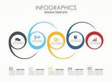 Πρότυπο Infographic επίσης corel σύρετε το διάνυσμα απεικόνισης Μπορέστε να χρησιμοποιηθείτε για το σχεδιάγραμμα ροής της δουλειά Στοκ φωτογραφία με δικαίωμα ελεύθερης χρήσης