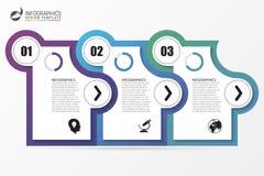 Πρότυπο Infographic Επιχειρησιακή έννοια με 3 βήματα διάνυσμα Στοκ φωτογραφία με δικαίωμα ελεύθερης χρήσης