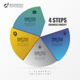 Πρότυπο Infographic Επιχειρησιακή έννοια με 4 βήματα διάνυσμα Στοκ Φωτογραφία