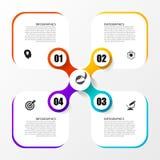 Πρότυπο Infographic Επιχειρησιακή έννοια με 4 επιλογές διάνυσμα Στοκ φωτογραφία με δικαίωμα ελεύθερης χρήσης