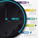 Πρότυπο Infographic Επιχειρησιακή έννοια με το ρολόι διάνυσμα Στοκ φωτογραφίες με δικαίωμα ελεύθερης χρήσης