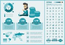 Πρότυπο Infographic επιχειρησιακού επίπεδο σχεδίου Στοκ φωτογραφία με δικαίωμα ελεύθερης χρήσης