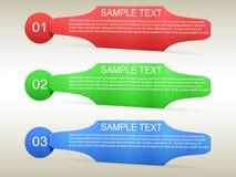 Πρότυπο 3 Infographic επιλογές Στοκ Εικόνα