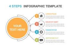 Πρότυπο Infographic με τέσσερα βήματα διανυσματική απεικόνιση