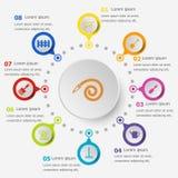 Πρότυπο Infographic με τα εικονίδια κηπουρικής Στοκ εικόνες με δικαίωμα ελεύθερης χρήσης