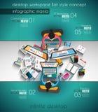 Πρότυπο Infographic με τα επίπεδα εικονίδια UI για την ταξινόμηση ttem απεικόνιση αποθεμάτων