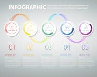 Πρότυπο Infographic μπορέστε να χρησιμοποιηθείτε για τη ροή της δουλειάς, σχεδιάγραμμα, διάγραμμα Στοκ Εικόνα