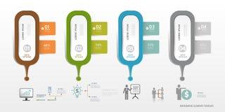Πρότυπο Infographic μπορέστε να χρησιμοποιηθείτε για το σχεδιάγραμμα ροής της δουλειάς, Στοκ Φωτογραφίες