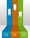 Πρότυπο Infographic μπορέστε να χρησιμοποιηθείτε για το σχεδιάγραμμα ροής της δουλειάς, Στοκ Εικόνες