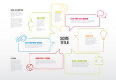 Πρότυπο Infographic που γίνεται από τις λεκτικές φυσαλίδες Στοκ εικόνα με δικαίωμα ελεύθερης χρήσης
