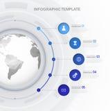 Πρότυπο Infographic Στοκ Εικόνα