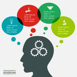 Πρότυπο infographics επιχειρησιακής σκέψης Στοκ φωτογραφία με δικαίωμα ελεύθερης χρήσης