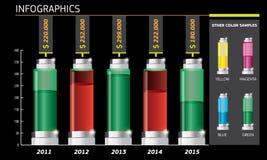 Πρότυπο Infographics στο άσπρο υπόβαθρο επίσης corel σύρετε το διάνυσμα απεικόνισης Στοκ Εικόνες