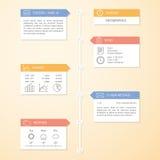 Πρότυπο infographics υπόδειξης ως προς το χρόνο Στοκ εικόνα με δικαίωμα ελεύθερης χρήσης