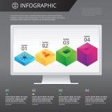 Πρότυπο Infographics Στοκ εικόνα με δικαίωμα ελεύθερης χρήσης