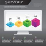 Πρότυπο Infographics Στοκ Εικόνες