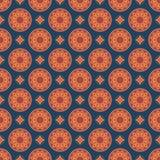 πρότυπο mandala άνευ ραφής Εκλεκτής ποιότητας στοιχεία στο ασιατικό ύφος te Στοκ φωτογραφία με δικαίωμα ελεύθερης χρήσης