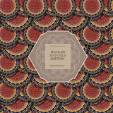 πρότυπο mandala άνευ ραφής Στοκ εικόνες με δικαίωμα ελεύθερης χρήσης