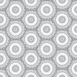 πρότυπο mandala άνευ ραφής Στοκ Εικόνες