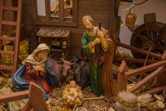 Πρότυπο nativity φωτογραφιών στοκ φωτογραφία με δικαίωμα ελεύθερης χρήσης