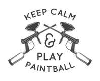 Πρότυπο Paintball Σχέδιο αφισών Paintballing Στοκ Εικόνα