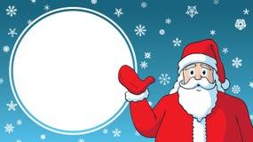 Πρότυπο s διαφήμισης σχεδίου Άγιου Βασίλη κινούμενων σχεδίων πώλησης Χριστουγέννων στοκ φωτογραφίες
