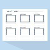 Πρότυπο Storyboard στο μπλε Στοκ φωτογραφίες με δικαίωμα ελεύθερης χρήσης