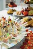 πρόχειρα φαγητά θαλασσινών γυαλιών Στοκ Εικόνες