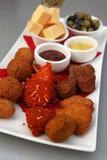 πρόχειρα φαγητά κρέατος Στοκ Εικόνες