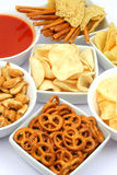 πρόχειρα φαγητά πατατών τσιπ Στοκ Εικόνες