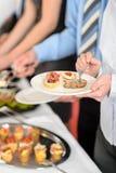πρόχειρα φαγητά συνεδρίασης της επιχειρησιακής επιχείρησης μπουφέδων Στοκ Φωτογραφίες