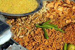 πρόχειρα φαγητά της Ινδίας στοκ φωτογραφία