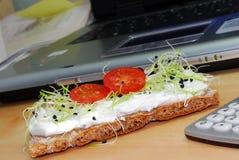 πρόχειρο φαγητό γραφείων Στοκ Εικόνες
