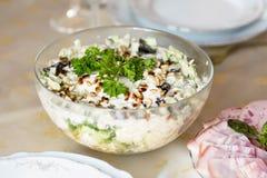Πρόχειρο φαγητό κρέατος για το γεύμα στον πίνακα γευμάτων Στοκ Εικόνες