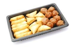πρόχειρο φαγητό πακέτων γρή&gamm Στοκ Εικόνες