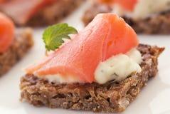 Πρόχειρο φαγητό σολομών Στοκ φωτογραφίες με δικαίωμα ελεύθερης χρήσης