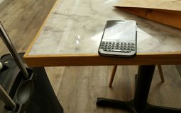 Πρόχειρο φαγητό, ταξίδι με το Blackberry Στοκ Φωτογραφίες
