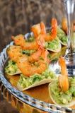 Πρόχειρο φαγητό του αβοκάντο με τις γαρίδες Στοκ φωτογραφίες με δικαίωμα ελεύθερης χρήσης