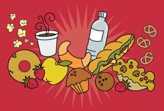 πρόχειρο φαγητό τροφίμων απεικόνιση αποθεμάτων