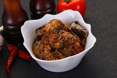 Πρόχειρο φαγητό Eggpant - ιμάμης bayaldy στοκ εικόνα με δικαίωμα ελεύθερης χρήσης