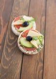 Πρόχειρο φαγητό Wholemeal ψωμιού Στοκ φωτογραφία με δικαίωμα ελεύθερης χρήσης