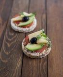 Πρόχειρο φαγητό Wholemeal ψωμιού Στοκ Φωτογραφίες