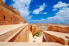Πρόχωμα Βικτώριας, IR-Rabat, Gozo, Μάλτα στοκ φωτογραφίες