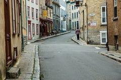 Πρόωρο Mprong στην πόλη του Κεμπέκ Στοκ Εικόνα