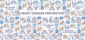 Πρόληψη καρδιακών παθήσεων - διανυσματική απεικόνιση Στοκ φωτογραφία με δικαίωμα ελεύθερης χρήσης