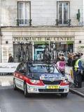Πρόλογος του Παρισιού Νίκαια 2013 αυτοκινήτων ομάδας Radioshack σε Houilles Στοκ φωτογραφίες με δικαίωμα ελεύθερης χρήσης