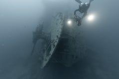 πρύμνη SS thistlegorm Στοκ εικόνα με δικαίωμα ελεύθερης χρήσης