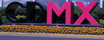Πρώην-λογότυπο της πόλης του Μεξικού στοκ εικόνα με δικαίωμα ελεύθερης χρήσης