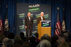 Πρώην πρόεδρος Bill Clinton και υποψήφιος για τον κυβερνήτη για την κατάσταση της Βιρτζίνια, Terry McAuliffe Στοκ εικόνα με δικαίωμα ελεύθερης χρήσης