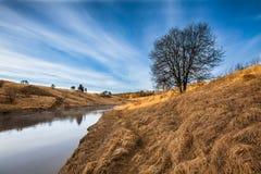 πρώιμη άνοιξη ποταμών Στοκ Φωτογραφία